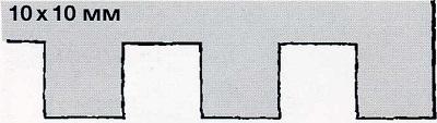 зубчатый шпатель 10х10 - инструмент для укладки плитки