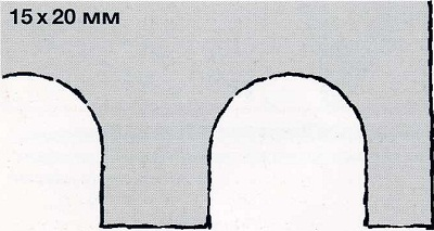 зубчатый шпатель 15х20 - инструмент для укладки плитки