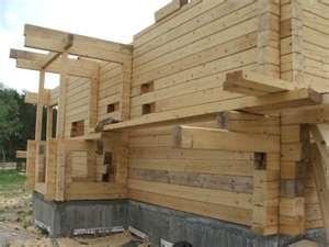постройка бани из бруса