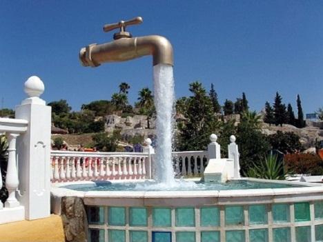 фонтан в виде крана