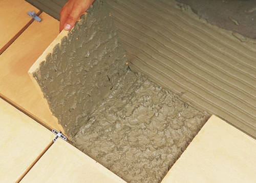 Выбор клея для укладки плитки.