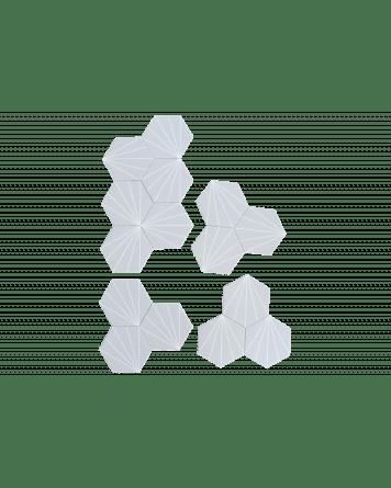 hexagon tiles light grey stripes 20x23 cm