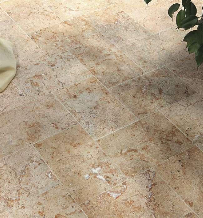 Travertin Platten Fliesen Marmor Bodenbelag
