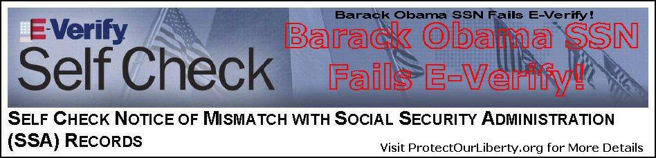 Obama Fails E-Verify