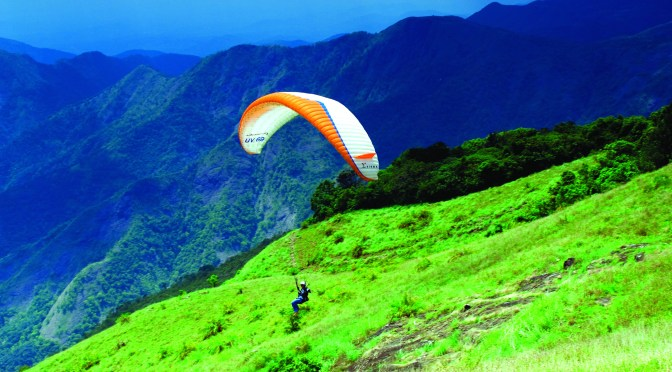 Vagamon hill station Paragliding