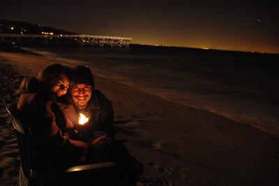 couple on a beach in malibu