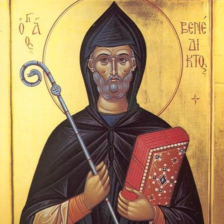 Saint Benoît, père des moines bénédictins