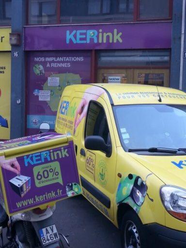 KERink livre gratuitement les clients professionnels sur l'ille et vilaine sous condition de minimum de commande.