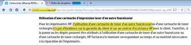 garantie_hp_utilisation_cartouche_recharge_kerink