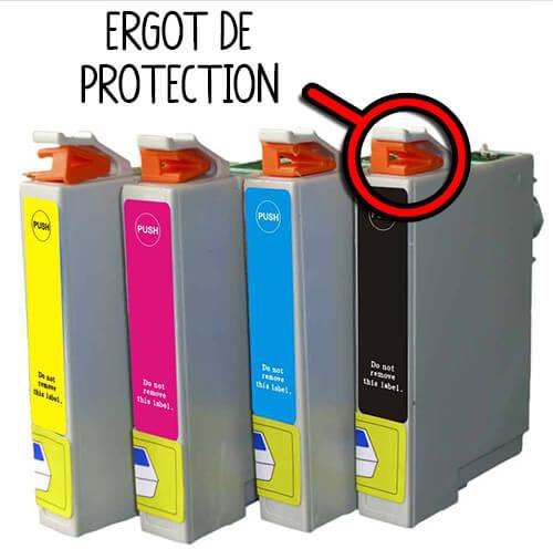 Penser à retirer les ergots de protection de vos cartouches Epson !