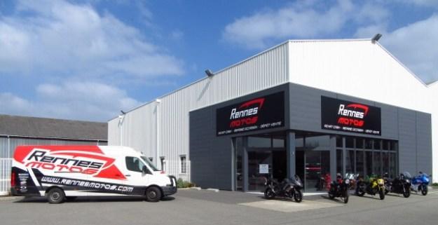 Façade de Rennes Motos