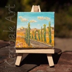Avenue of Trees Miniature Art