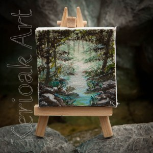 Misty Woodland Miniature Art