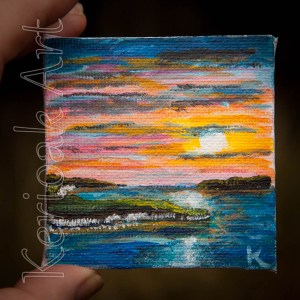 Sunset miniature painting