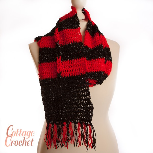 Red and Black Scarf