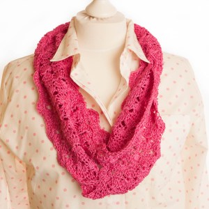 Cerise Pink Infinity Scarf