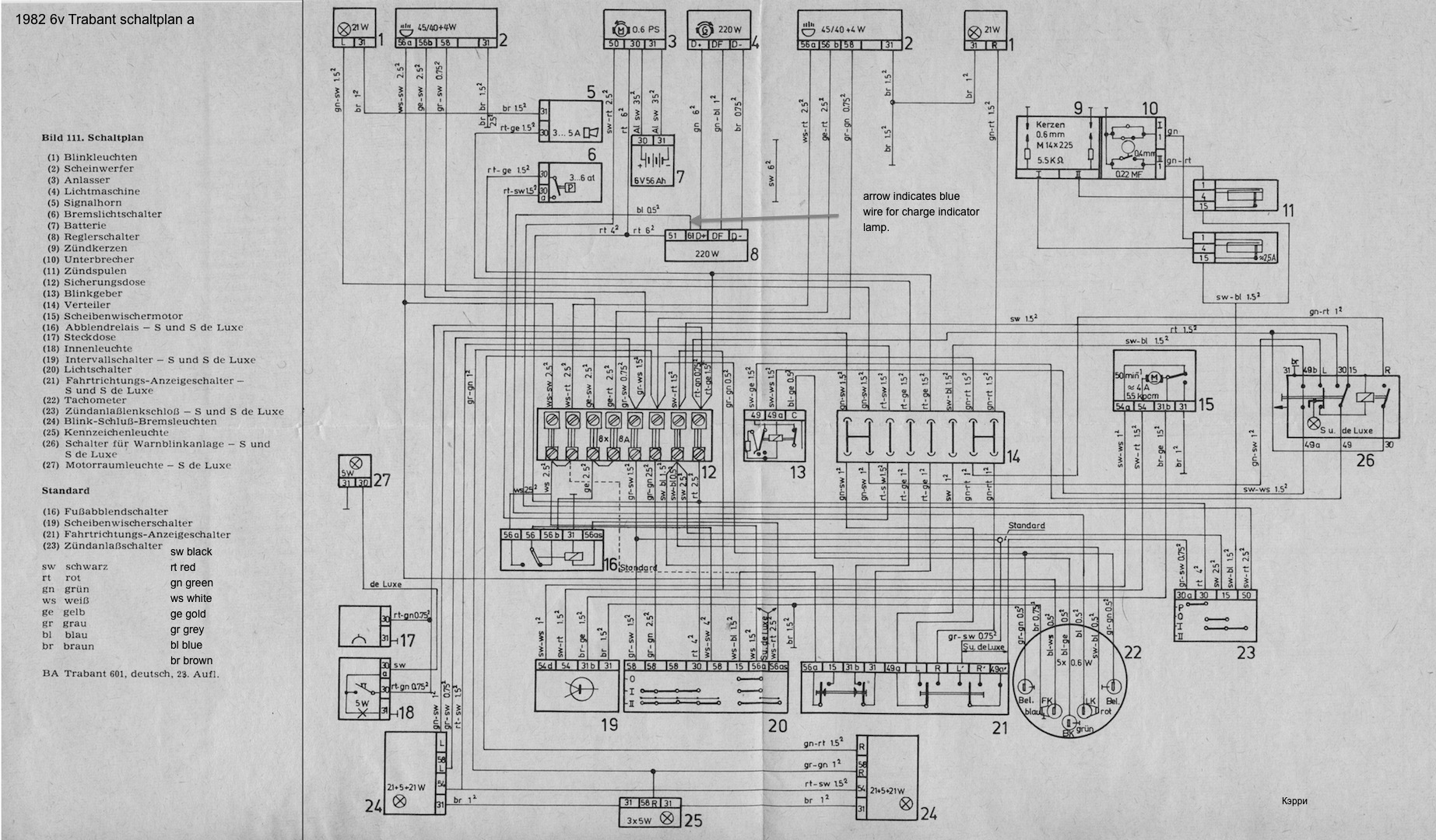 12 volt alternator wiring diagram yamaha g14 gas golf cart converting from 6 volts to   trabantforums.com