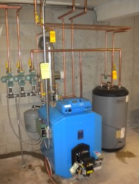 Buderus G115WS/4 Oil Boiler, Logamatic 2107 Control, and