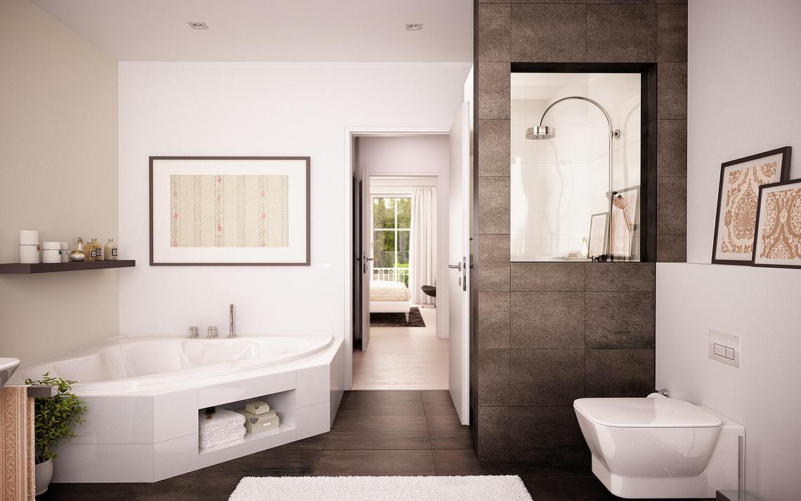 Badezimmer  Bad mit Wanne  Bad mit Dusche