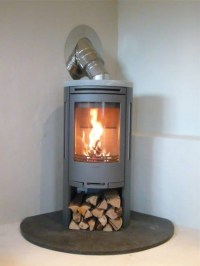 Contura 550 with soapstone wood burning stove installation ...