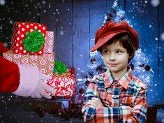 a kid receiving a gift