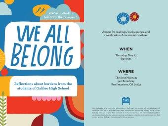 'We All Belong' - Galileo High School & 826 Valencia Book Release