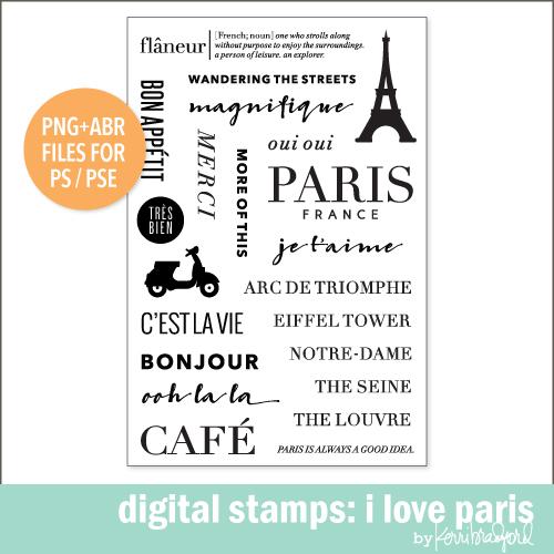 digital stamps i love