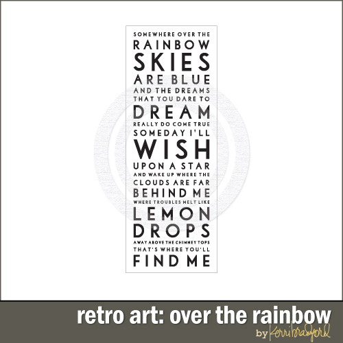 Retro Art: Over The Rainbow