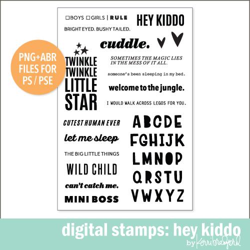 digital stamps hey kiddo