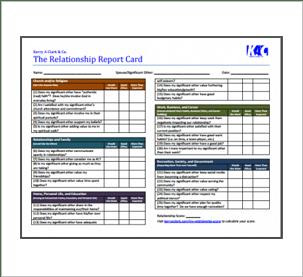 Relationship Report Card (RRC)