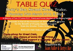 Chain Gang Table Quiz