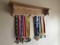 Solid Oak Medal Holder Shelf - Kerry Signature Furniture