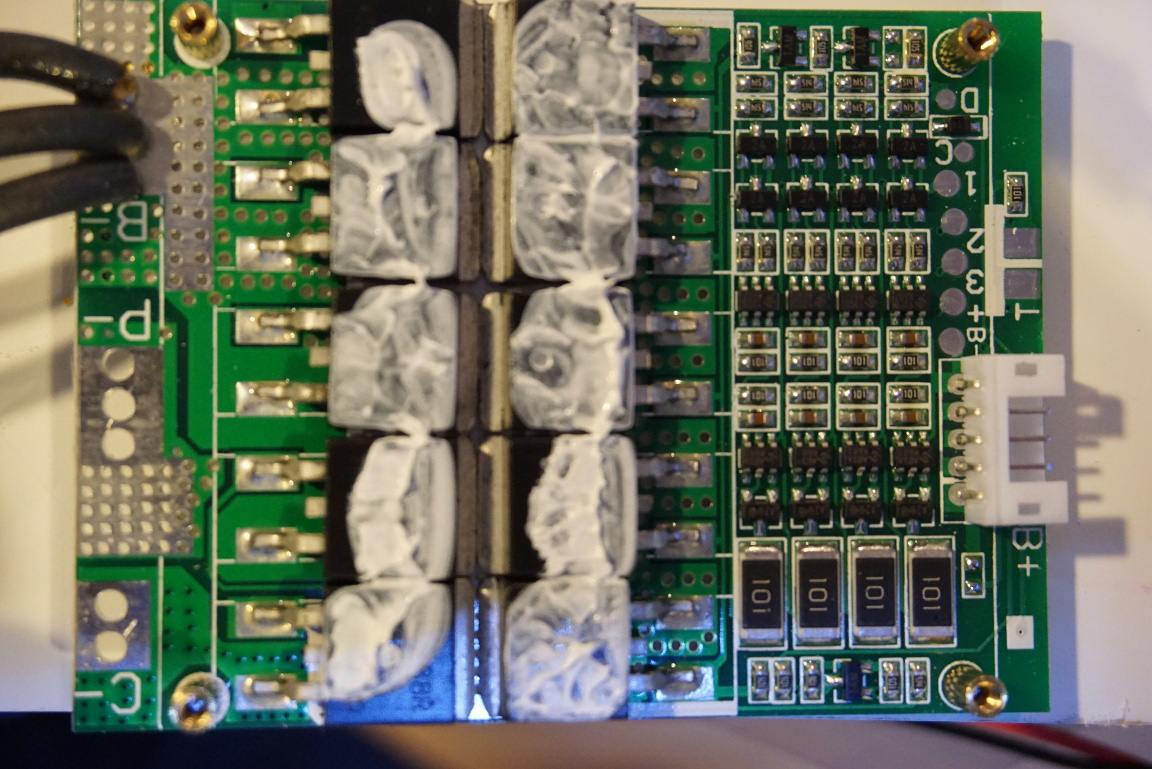 4s bms wiring diagram 1979 jeep cj5 kerry d wong blog archive modifying a 100a lifepo4 module the mosfets used here are shenzhen ruichip s ru7088r n channel according to datasheet mosfet has rds on of 6 5mw and an ids 40a