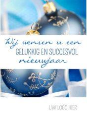Gelukkig nieuwjaar wensen kaart