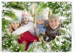 Kerst tekst familie voor op een kaartje