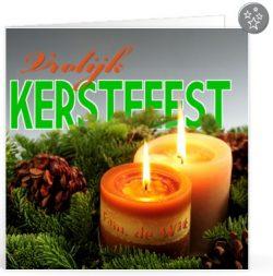 Kerst tekst licht voor op een kaartje