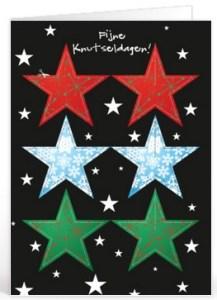 Kerst tekst sterren voor op een kaartje