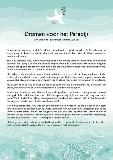 Verhaal: Dromen voor het Paradijs - Patricia Ritsema van Eck