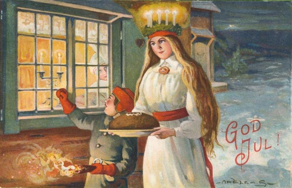 Sint Lucia Kerstkaart - Adèle Söderberg (1880-1915)