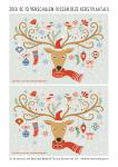 Kerst zoekplaatje: zoek de 10 verschillen tussen deze 2 kersttaferelen.