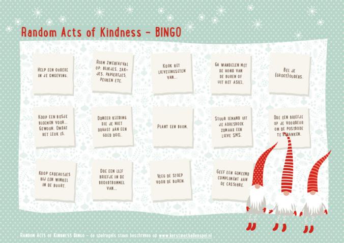 Random Acts of Kindness: Raktivist Bingo