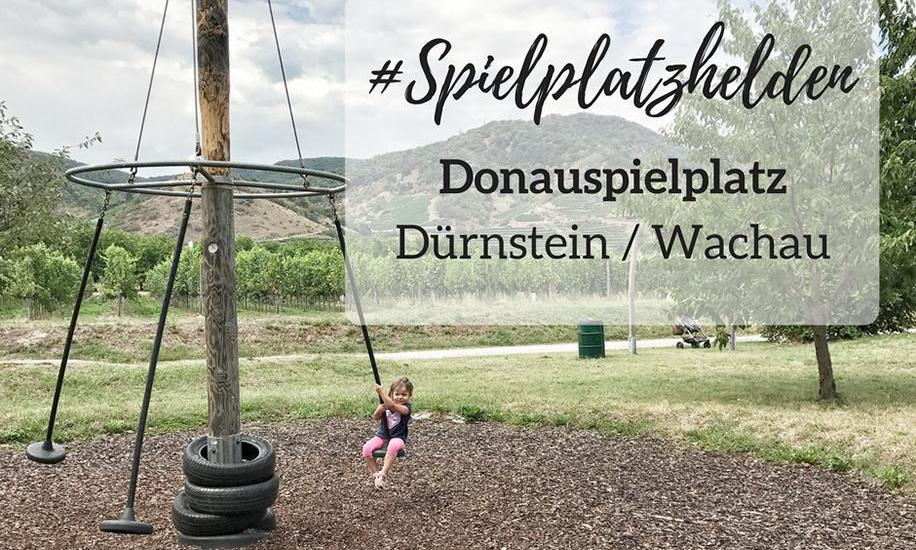"""Kinderspielplatz an der Donau """"Donauspielplatz"""" in Dürnstein / Wachau / Niederösterreich"""