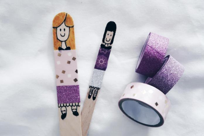 10 DIY Ideen Washi Tape - Puppentheater Figuren