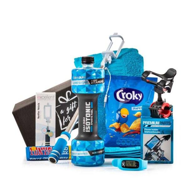 Sportief Blauw kerstpakket