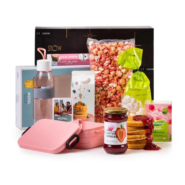Lunch in Roze Kerstpakket