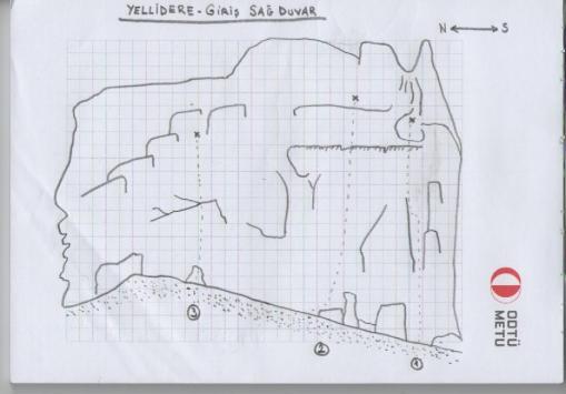 Yellidere Giriş - Doğu Duvarı Topo