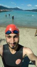 Yarış öncesi antreman yüzüşü