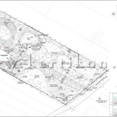 Kertépítészeti kiviteli terv, kertépítészeti terv, Vidéki birtok