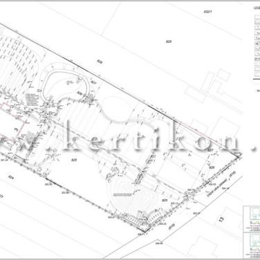Kertépítészeti kiviteli terv, kitűzési terv, Vidéki birtok