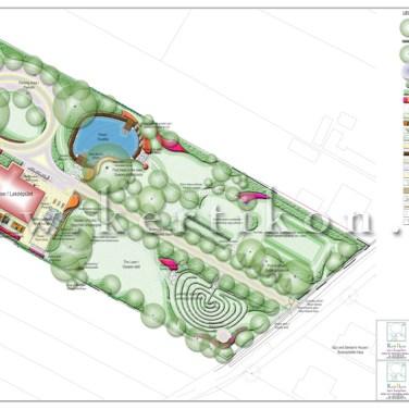 Kertépítészeti terv, vidéki birtok